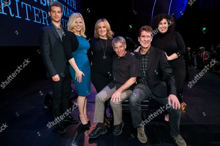 Stock Image of Jonah Platt, Megan Hilty, Zina Goldrich, Stephen Schwartz, Cinco Paul and Marcy Heisler