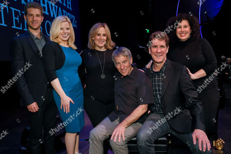 Jonah Platt, Megan Hilty, Zina Goldrich, Stephen Schwartz, Cinco Paul and Marcy Heisler