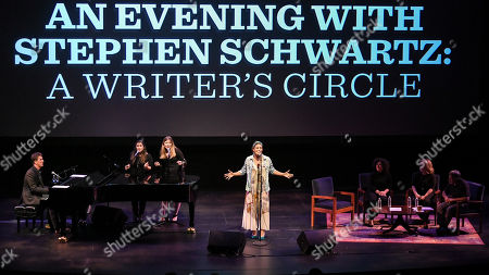 Cinco Paul, Marissa Lauren, Annabel Asher, Ciara Renee, Marcy Heisler, Zina Goldrich and Stephen Schwartz.