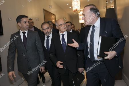 Stock Image of Ali Haddad President, Pierre Gattaz and Youcef Yousfi
