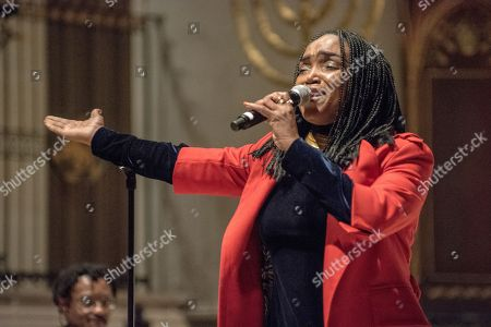 Haitian singer Emeline Michel at 'Refuge in Music' event to counter 'divisive rhetoric' about certain countries.