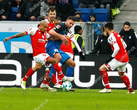 Nigel DE JONG, FSV Mainz - Adam SZALAI,1899 Hoffenheim,   Football, 1. Bundesliga  2017/2018
