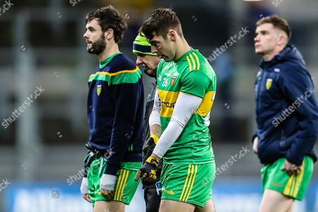 Dublin vs Donegal. Donegal's Paul Brennan dejected after the match