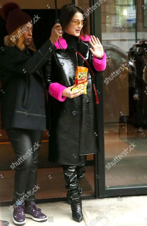Editorial picture of Bella Hadid out and about, New York Fashion Week, USA - 10 Feb 2018