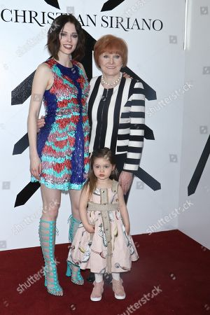 Coco Rocha with her mother Rocky and daughter Ioni James Conran