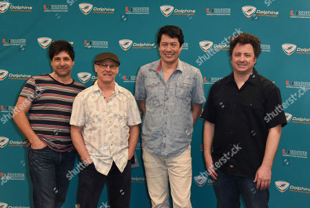 Brian Nevin, Rob Squires, Todd Mohr, Jeremy Lawton. Brian Nevin, from left, Rob Squires, Todd Mohr and Jeremy Lawton of Big Head Todd and The Monsters attend a press event prior to their concert at the Dolphins Cancer Challenge VIII on at Hard Rock Stadium in Miami Gardens, Fla