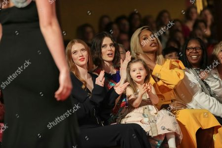 Coco Rocha, Ioni James Conran, Laverne Cox, Whoopi Goldberg. Coco Rocha, 2nd from left, Ioni James Conran, Laverne Cox and Whoopi Goldberg attend the Christian Siriano 2018 Fall/Winter Runway Show during New York Fashion Week at The Grand Lodge on in New York