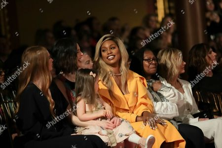 Coco Rocha, Ioni James Conran, Laverne Cox, Whoopi Goldberg, Meg Ryan, Molly Shannon. Coco Rocha, from left, Ioni James Conran, Laverne Cox, Whoopi Goldberg, Meg Ryan and Molly Shannon attend the Christian Siriano 2018 Fall/Winter Runway Show during New York Fashion Week at The Grand Lodge on in New York
