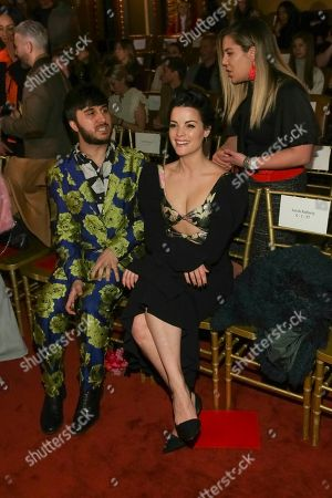 Brad Walsh, Jaimie Alexander. Brad Walsh, left, and Jaimie Alexander attend the Christian Siriano 2018 Fall/Winter Runway Show during New York Fashion Week at The Grand Lodge on in New York