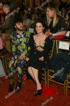 Brad Walsh, Jamie Alexander. Brad Walsh, left, and Jamie Alexander attend the Christian Siriano 2018 Fall/Winter Runway Show during New York Fashion Week at The Grand Lodge on in New York