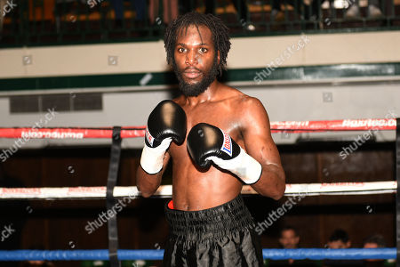 Stock Photo of Jeffrey Ofori (black shorts) defeats Jamie Quinn during a Boxing Show at York Hall on 10th February 2018