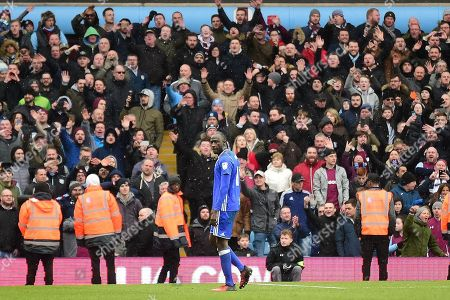 Stock Picture of Birmingham City midfielder Cheikh N'Doye (17) shown a red card, sent off during the EFL Sky Bet Championship match between Aston Villa and Birmingham City at Villa Park, Birmingham. Picture by Dennis Goodwin