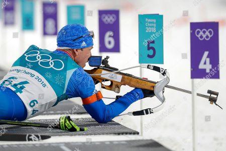 Editorial photo of Olympics Biathlon Men, Pyeongchang, South Korea - 11 Feb 2018