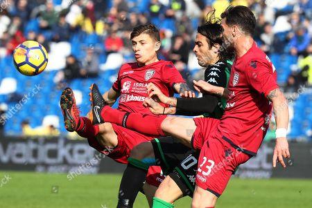 Alessandro Matri, Luca Ceppitelli and Nicolo Barella