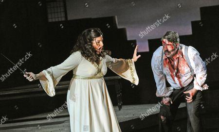 John Hudson ( Pollione ) and Claire Rutter ( Norma )