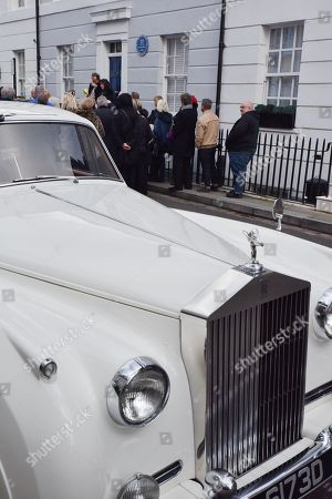 The white Rolls Royce Silver Cloud Mk2 originally owned by Diana Dors