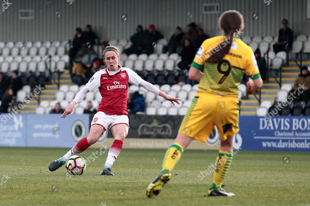 Heather O'Reilly of Arsenal goes close during Arsenal Women vs Yeovil Town Ladies, FA Women's Super League FA WSL1 Football at Meadow Park on 11th February 2018