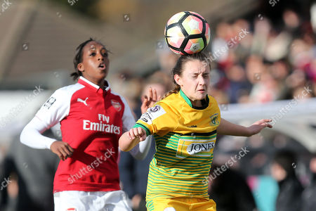 Chloe Lloyd of Yeovil during Arsenal Women vs Yeovil Town Ladies, FA Women's Super League FA WSL1 Football at Meadow Park on 11th February 2018