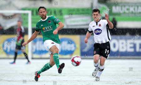 Dundalk vs Cork City. Dundalk's Ronan Murray and Alan Bennett of Cork City