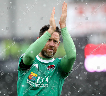 Dundalk vs Cork City. Cork City's Alan Bennett celebrates after the game