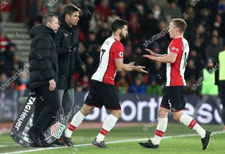 James Ward-Prowse of Southampton is replaced by  Shane Long of Southampton