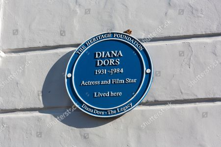 Stock Photo of Blue Plaque