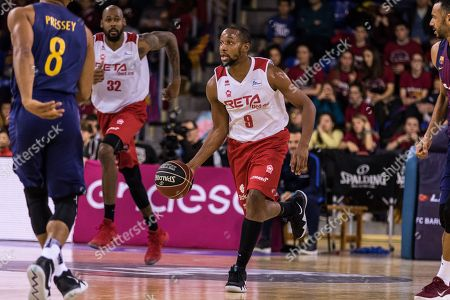 Jonathan Tabu, #9 of RETAbet Bilbao Basket in action