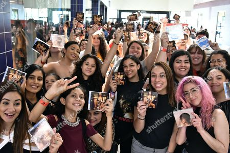 Camila cabello fan meet greet coral springs stock photos pictures camila cabello meets and greets fans at the coral square mall m4hsunfo Image collections