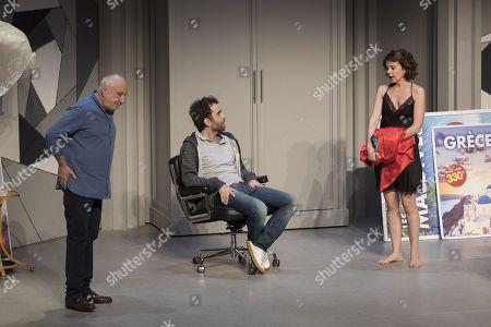 (G-D) Francois Berleand, Sebastien Castro, Constance Dolle