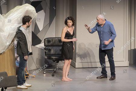 (G-D) Sebastien Castro, Constance Dolle, Francois Berleand