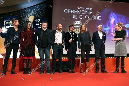 Members of the Jury Caroline Proust, Sylvette Frydman, Xavier Durringer, Alexandre Lessertisseur, Francoise Charpiat, Julie De Bona, Pascal Legitimus and Julie Depardieu