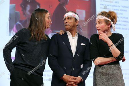 Members of the Jury Julie De Bona, Pascal Legitimus and Julie Depardieu