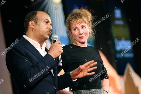 Members of the Jury Pascal Legitimus and Julie Depardieu