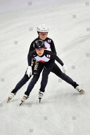 (T-B)  Yuki Kikuchi, Sumire Kikuchi (JPN) - Short Track : Women's 3000m Relay Heat at Gangneung Ice Arena during the PyeongChang 2018 Olympic Winter Games in Gangneung, South Korea.