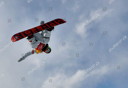 Chloe Kim, of the United States, jumps during the women's halfpipe qualifying at Phoenix Snow Park at the 2018 Winter Olympics in Pyeongchang, South Korea