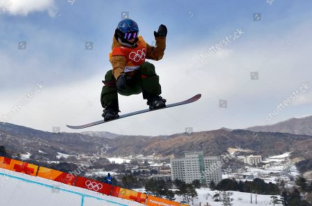 Queralt Castellet, of Spain, runs the course during the women's halfpipe qualifying at Phoenix Snow Park at the 2018 Winter Olympics in Pyeongchang, South Korea