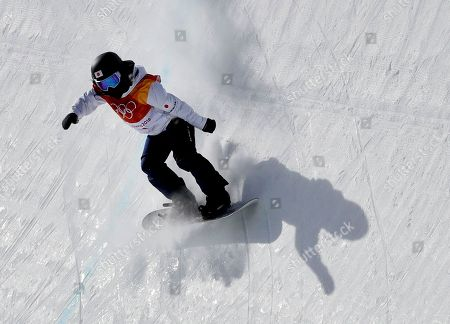 Kurumi Imai, of Japan, runs the course during the women's halfpipe qualifying at Phoenix Snow Park at the 2018 Winter Olympics in Pyeongchang, South Korea