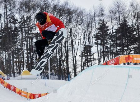 Cai Xuetong, of China, runs the course during the women's halfpipe qualifying at Phoenix Snow Park at the 2018 Winter Olympics in Pyeongchang, South Korea