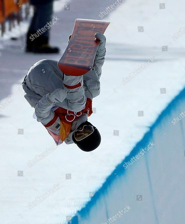 Kelly Clark, of the United States, jumps during the women's halfpipe qualifying at Phoenix Snow Park at the 2018 Winter Olympics in Pyeongchang, South Korea