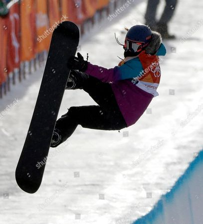 Verena Rohrer, of Switzerland, runs the course during the women's halfpipe qualifying at Phoenix Snow Park at the 2018 Winter Olympics in Pyeongchang, South Korea