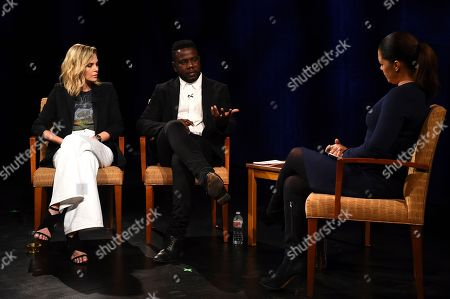 "Charlize Theron, Kweku Mandela, Soledad O'Brien. Charlize Theron, Kweku Mandela and Soledad O'Brien kick off ""100 Conversations Around the Globe"" in honor of Nelson Mandela at the Geffen on in Westwood, Calif"