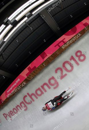 Erin Hamlin of the United States competes in her second run during the women's luge competition at the 2018 Winter Olympics in Pyeongchang, South Korea