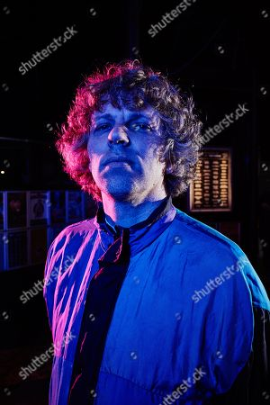 Stock Picture of Bristol United Kingdom - May 29: Portrait Of American Musician Nic Offer Of Dance-punk Group !!! Photographed Before A Live Performance At The Fleece In Bristol On April 29