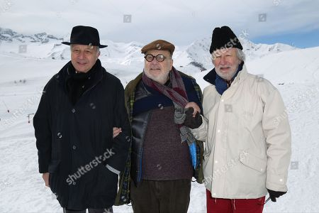Stock Image of Laurent Fabius, Serge Moati and Jerome Clement