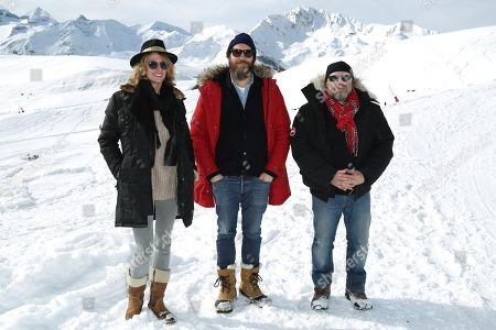 Sara Mortensen, Hubert Delattre and Olivier Megaton
