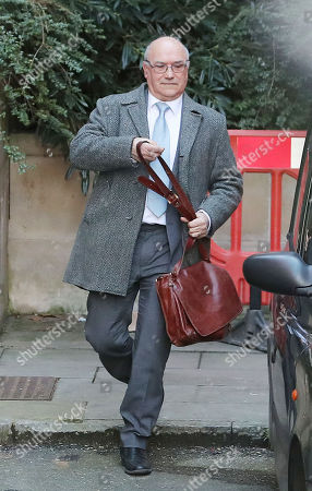 The Oxfam Charity's CEO Mark Goldring leaves the Department of International Trade and Development in London, Britain, 12 February 2018. Oxfam is engulfed in a scandal in which worker are alleged to have paid prostitutes for sex in the aftermath of the 2010 earthquake in Haiti.