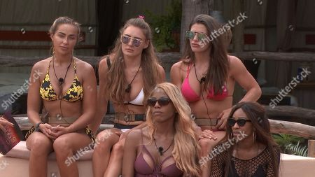 Georgia Cole, Georgie Clarke, Jenny West, Tia Latham and Mariam Musa as Laura comes in to the lodge to give the Teammates the news about Dani and introduce Lottie James