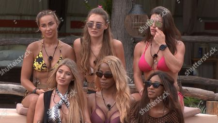 Georgia Cole, Georgie Clarke, Jenny West, Lottie James, Tia Latham and Mariam Musa as Laura comes in to the lodge to give the Teammates the news about Dani and introduce Lottie James