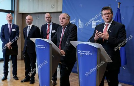 Editorial picture of High-level meeting on the European Battery Alliance, Brussels, Belgium - 12 Feb 2018