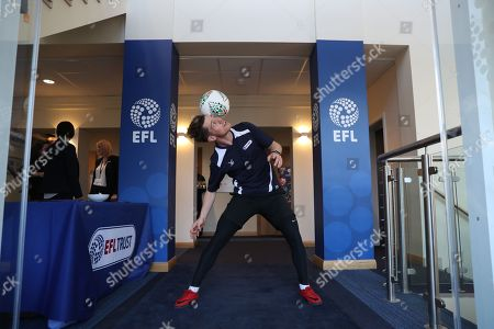 Stock Picture of Free style footballer John Farnworth at the 10th Anniversary of the EFL Trust